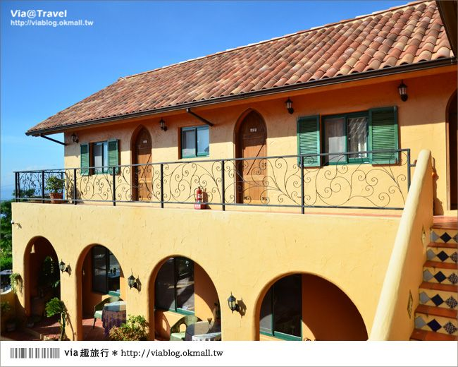 【台東民宿】台東願井民宿~在藍天下遇到南法風的浪漫莊園 @Via's旅行札記-旅遊美食部落格