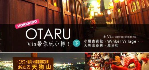 【北海道】via帶你玩小樽(下)小樽貴賓館、Winkel Village、天狗山、屋台街 @Via's旅行札記-旅遊美食部落格