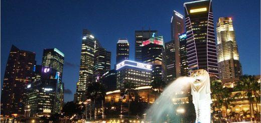 【新加坡景點介紹】新加坡必去景點~魚尾獅公園Merlion Park!夜景時最美! @Via's旅行札記-旅遊美食部落格