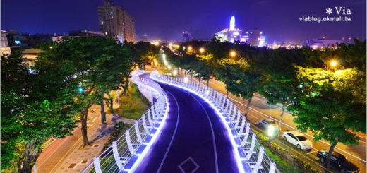 【高雄景點推薦】前鎮之星自行車道~白天、夜晚都很適合拍照的美麗景點! @Via's旅行札記-旅遊美食部落格