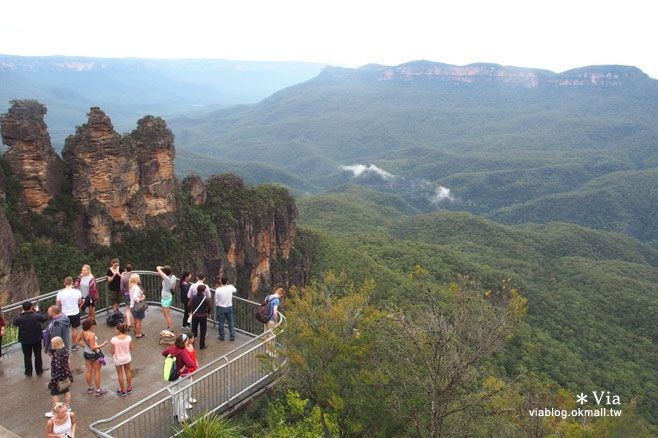 【澳洲旅遊景點】藍山一日遊(下)三姐妹峰、回聲角及世界最陡的纜車之旅 @Via's旅行札記-旅遊美食部落格