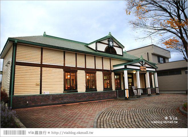 【福島咖啡館】七日町車站~駅cafe(車站咖啡館)歐風的小木屋車站好吸睛! @Via's旅行札記-旅遊美食部落格