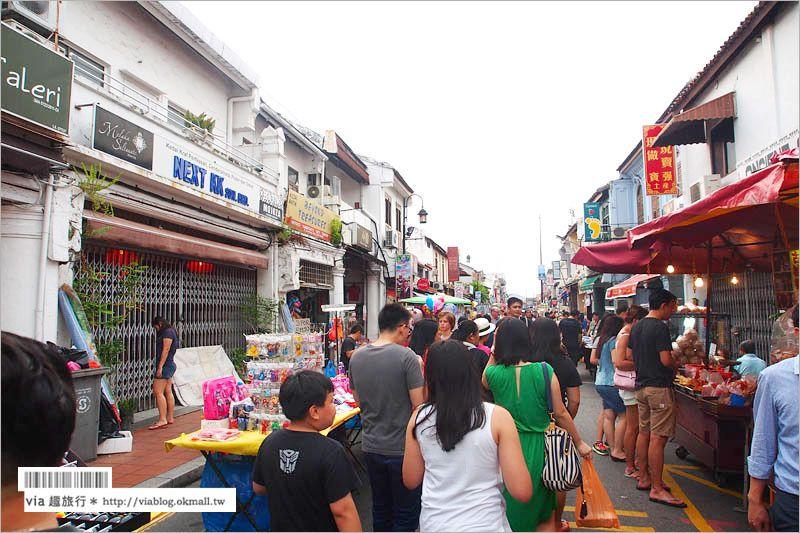 【馬六甲旅遊】馬六甲‧雞場街(Jonker Street)~走進世遺老街中感受熱鬧與歷史 @Via's旅行札記-旅遊美食部落格
