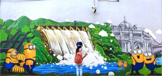【桃園小小兵彩繪牆】就在大溪南興里~有大溪在地特色的小小兵彩繪!拍照趣! @Via's旅行札記-旅遊美食部落格