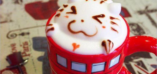【新竹餐廳推薦】新竹下午茶~紳士帽英式主題餐廳/大紅巴士超搶眼!立體小貓拉花萌翻了! @Via's旅行札記-旅遊美食部落格