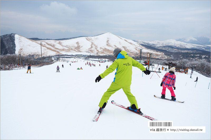 """【九州滑雪場】九重森林滑雪場~滑雪好好玩!來去體驗滑雪樂趣、再泡個""""筋湯溫泉""""好舒服! @Via's旅行札記-旅遊美食部落格"""