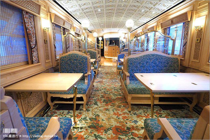 【九州觀光列車】甜點列車~搭到了!傳說中的金色列車!搭載夢幻甜點美食~帶著滿滿華麗的幸福啟程囉! @Via's旅行札記-旅遊美食部落格