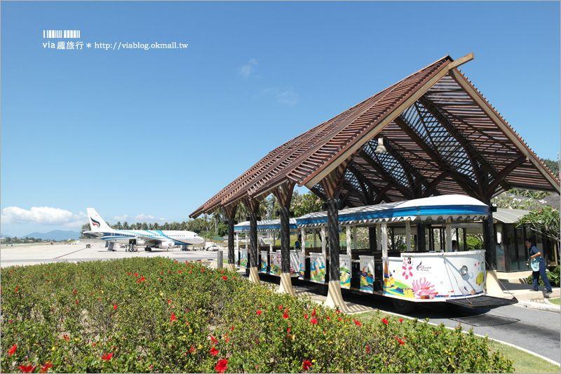【泰國蘇美島機場】蘇美島景點~SAMUI AIRPORT機場美到像一個景點!雜誌評選為世界十大機場! @Via's旅行札記-旅遊美食部落格