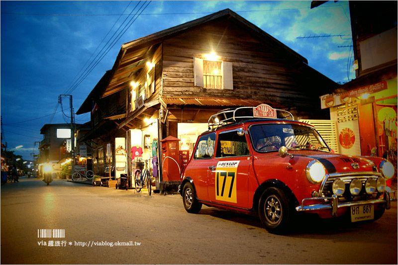 【泰國旅遊景點】清康小鎮(Chiang Khan)~懷舊風的木造小鎮,悠遊在舊時光裡的美好!早晨的和尚施齋體驗好新奇! @Via's旅行札記-旅遊美食部落格