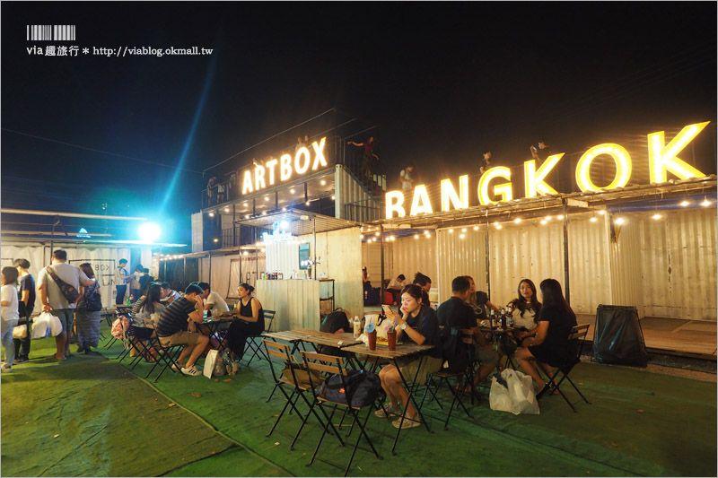 【曼谷新夜市】ARTBOX BANGKOK~超好拍!白色貨櫃屋打造出文青風格新夜市! @Via's旅行札記-旅遊美食部落格