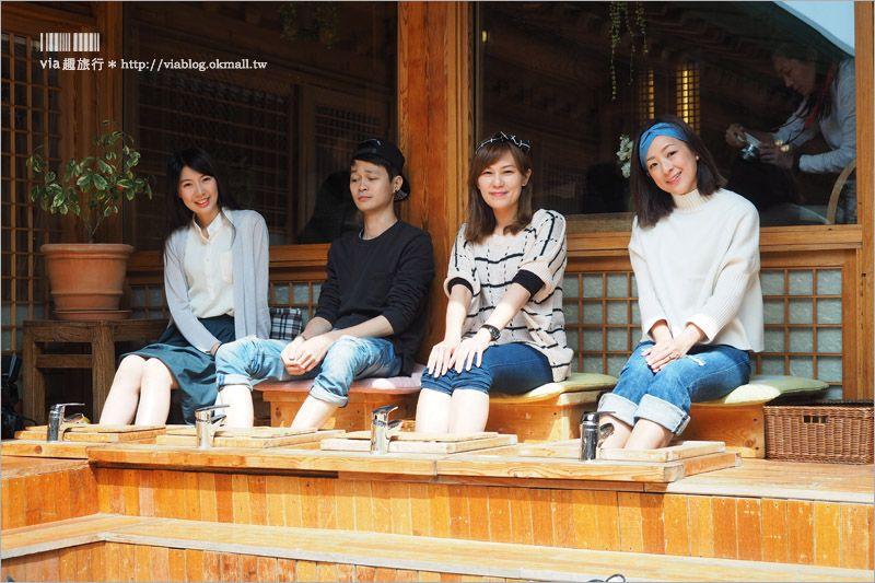 【首爾旅遊】松佳軒솔가헌韓屋韓方咖啡館~新玩法!在傳統韓屋中放鬆享受足浴+養生茶的放鬆小旅行! @Via's旅行札記-旅遊美食部落格