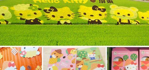 【屏東熱帶農業博覽會】Kitty彩繪稻田~萌翻天!春節旅遊就去這~KITTY在屏東等你來玩! @Via's旅行札記-旅遊美食部落格