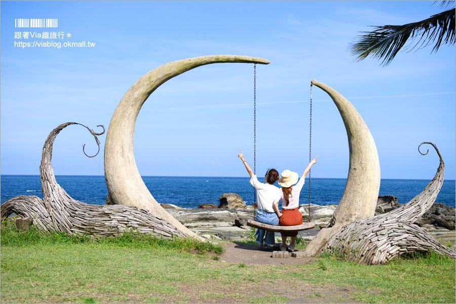 【花蓮海景咖啡館】項鍊海岸咖啡工作室~全台最夢幻鞦千‧好美!無敵海景就在眼前! @Via's旅行札記-旅遊美食部落格