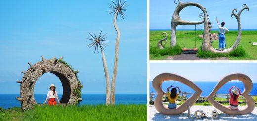 【花蓮豐濱景點】喜歡海的你一定要去~新社梯田、石梯灣、石門班哨角雙心石、大灣休憩區 @Via's旅行札記-旅遊美食部落格