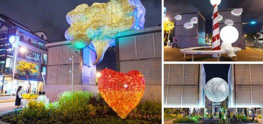 【台南景點】海安路「街道美術館」~新亮點!變身大型戶外藝術館,夜裡發光更夢幻! @Via's旅行札記-旅遊美食部落格