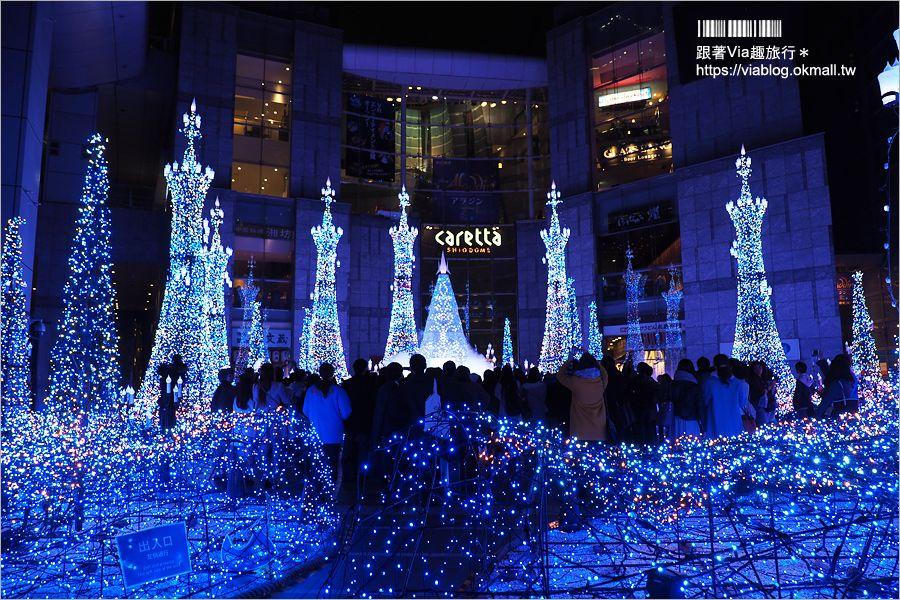 【東京燈光展】汐留Caretta Illumination~必去!最夢幻的點燈場地!浪漫迪士尼燈光音樂秀好精彩! @Via's旅行札記-旅遊美食部落格