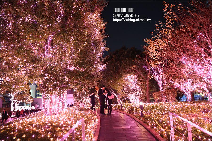 【東京點燈】新宿燈節《新宿空中遊城燈彩》~粉紅世界!唯一「櫻花粉」的浪漫點燈展! @Via's旅行札記-旅遊美食部落格