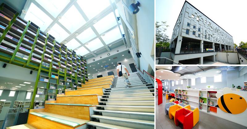 台南親子景點》台南鹽埕圖書館~像偶像劇般的氣質圖書館!超愛採光超美的大型階梯閱讀區! @Via's旅行札記-旅遊美食部落格