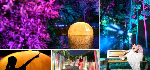 【嘉義光影藝術】超浪漫!巨型月球登場~夢幻夜光森林就在北香湖公園!首次登場2020嘉義光織影舞藝術展搶鮮看! @Via's旅行札記-旅遊美食部落格
