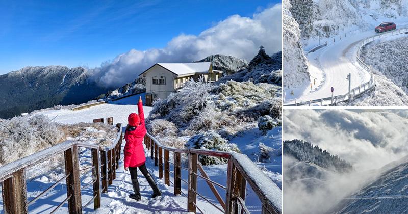 合歡山雪景》超美~合歡山的銀白雪世界全記錄!武嶺、松雪樓、合歡尖山、滑雪山莊全都蓋上夢幻白雪美景! @Via's旅行札記-旅遊美食部落格