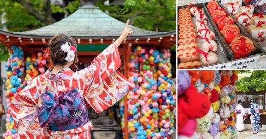 【京都神社景點】猴子神社-八坂庚申堂~女生們超愛!彩色的IG夯點,穿和服來打卡最對味! @Via's旅行札記-旅遊美食部落格